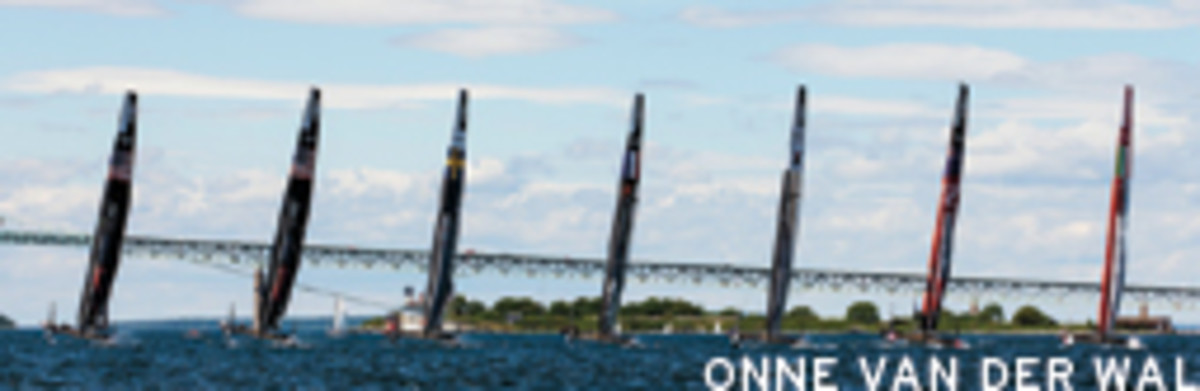 The AC45 catamarans can sail at double the wind speed and make for some exciting racing action.