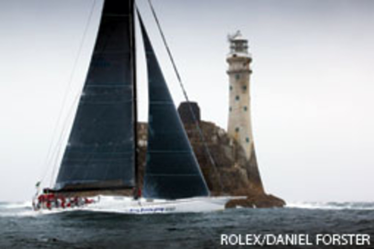 Rambler's keel broke not long after rounding Fastnet Rock.