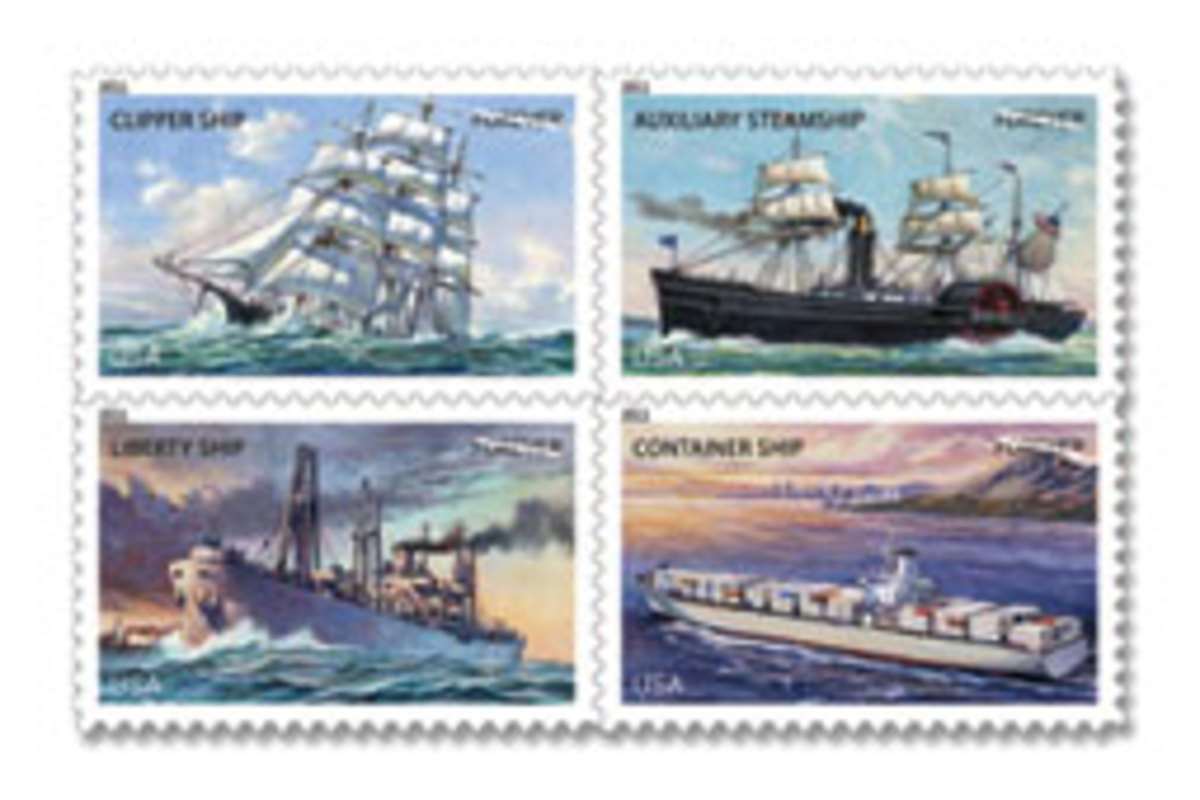 The Postal Service's new nautical stamps