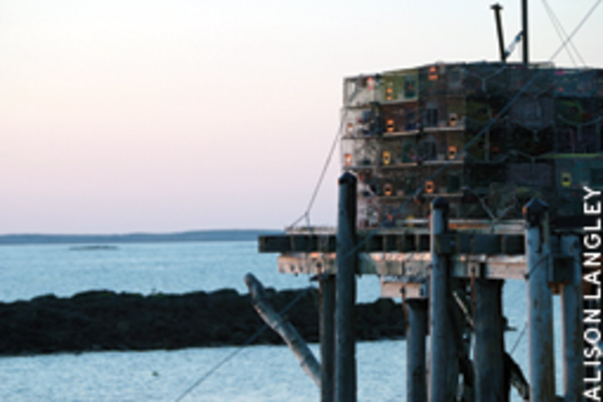 Maine's lobstermen compete vigorously, but they usually do so peacefully.