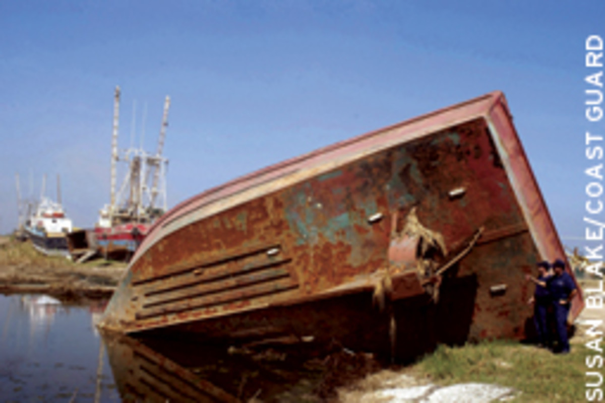 A company's decision to have two of its tugs ride out Hurricane Katrina resulted in a lawsuit.