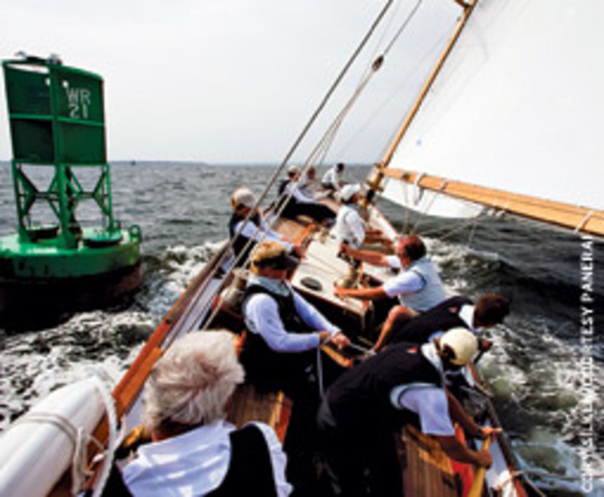 Dorade was among the yachts that raced in the Classic Yacht Regatta.
