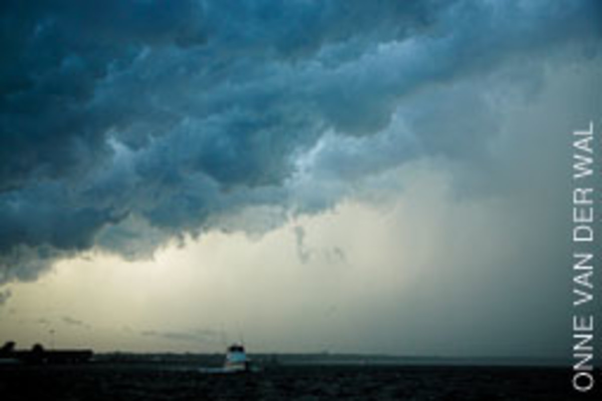 Keep a weather eye, but realize that sooner or later you will be caught out in more wind and seas than you counted on.
