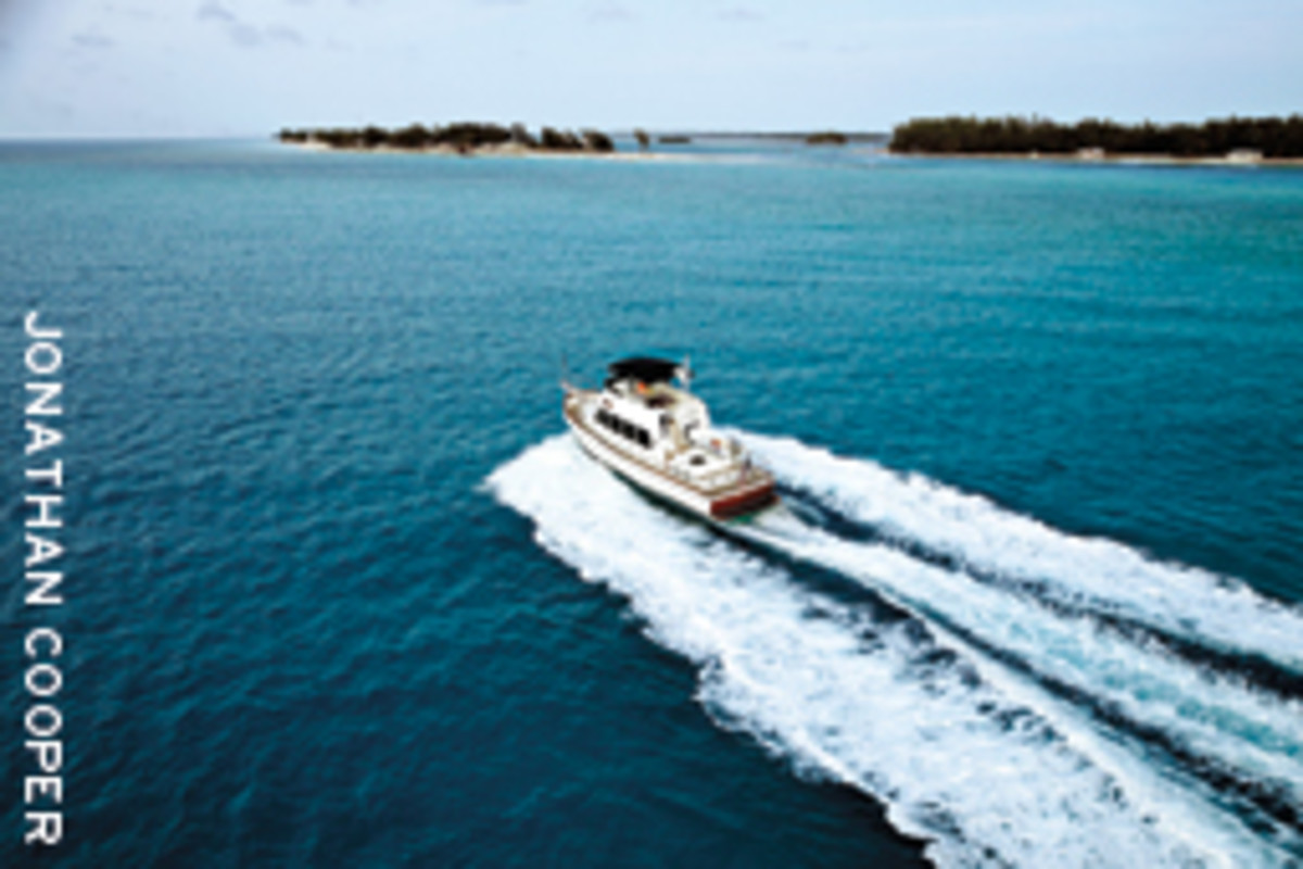 More and more, a good turn of speed is expected in a modern cruising boat. Shown here: the Grand Banks 47 Heritage CL.
