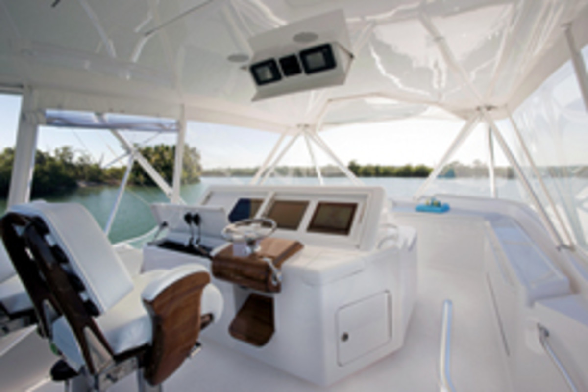 The latest from the boatbuilder is the Bertram 64, designed with clean, smooth and rounded interior lines.