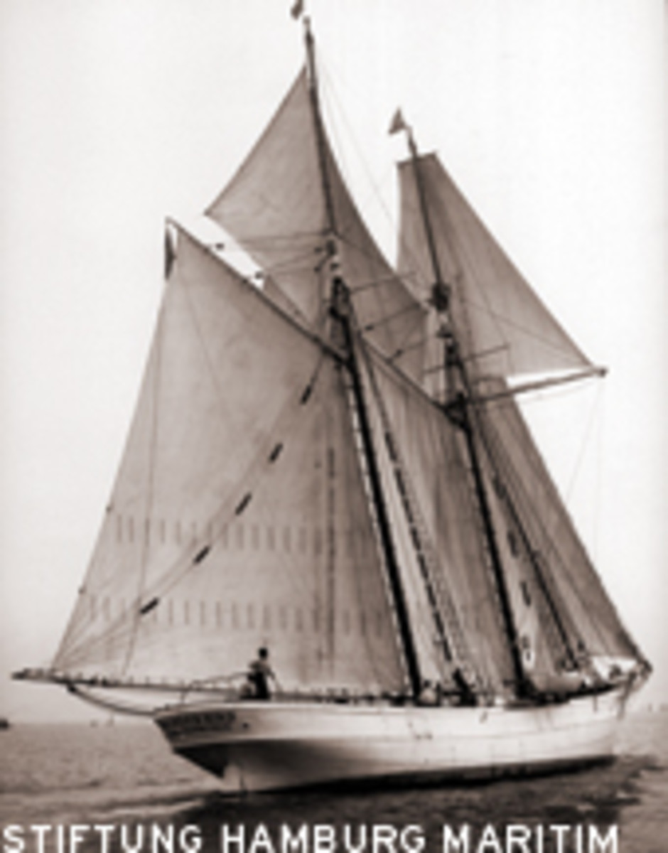 The schooner crossed the Atlantic and rounded Cape Horn when she was named Wander Bird.