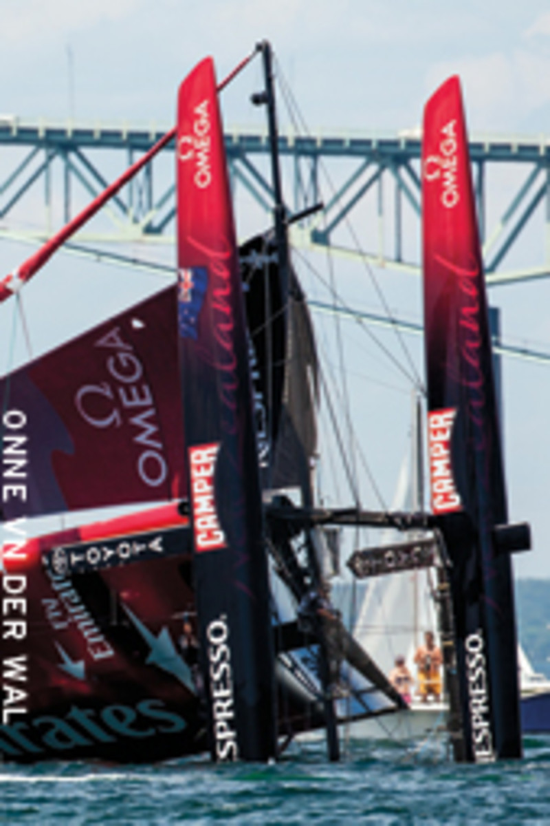Emirates Team New Zealand's dramatic opening day capsize