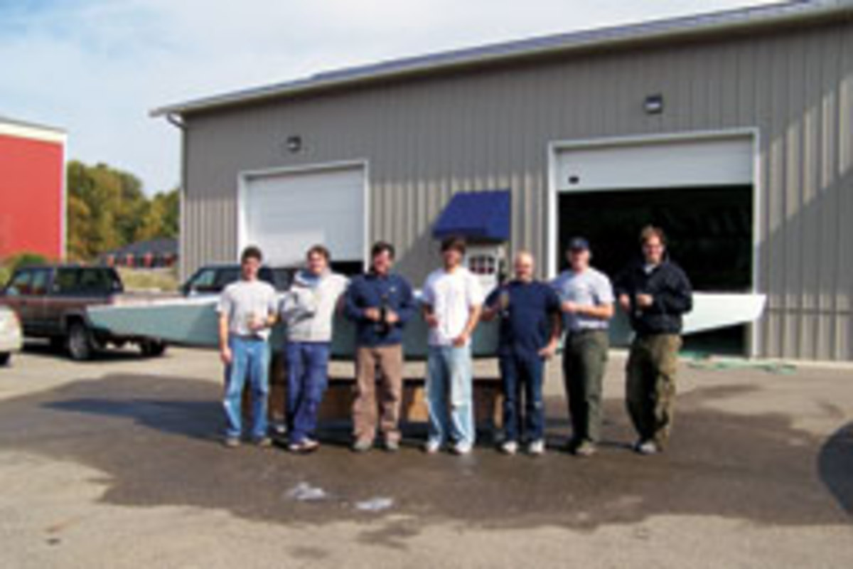 The North American Sailing Center crew has been building PStars for three years.