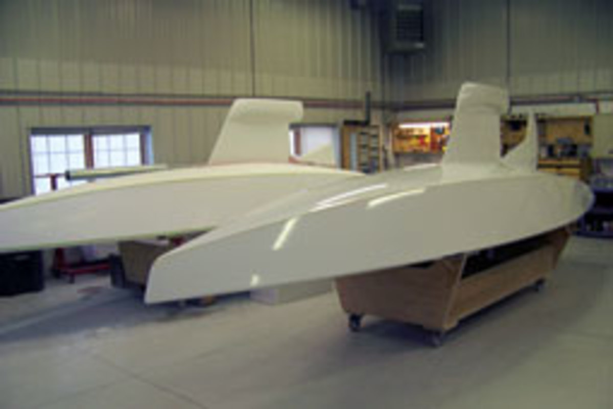 VanderMolen's PStars are lighter and stiffer than other Star boats because of the production process he uses.