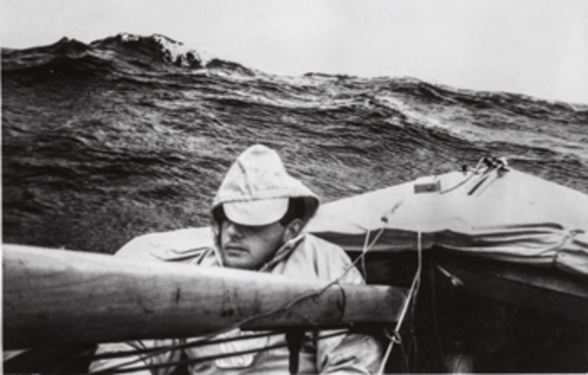 Bill Brockbank was Dye's crewmember when the pair tangled with a Force 9 gale on the Norwegian Sea.