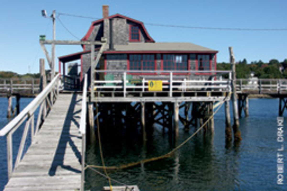 This unique home in Maine's Boothbay Harbor offers all the charms of a summer camp stay.