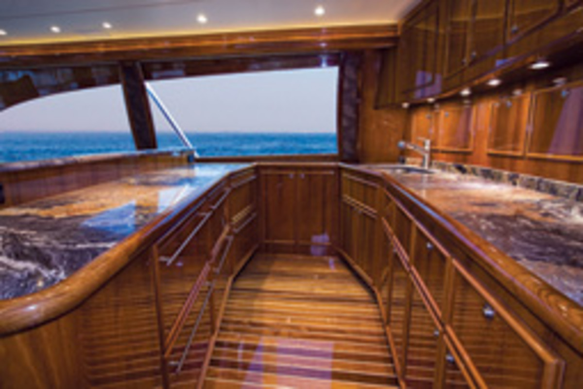 Top-of-the-line craftsmanship is a hallmark of Spencer Yachts.