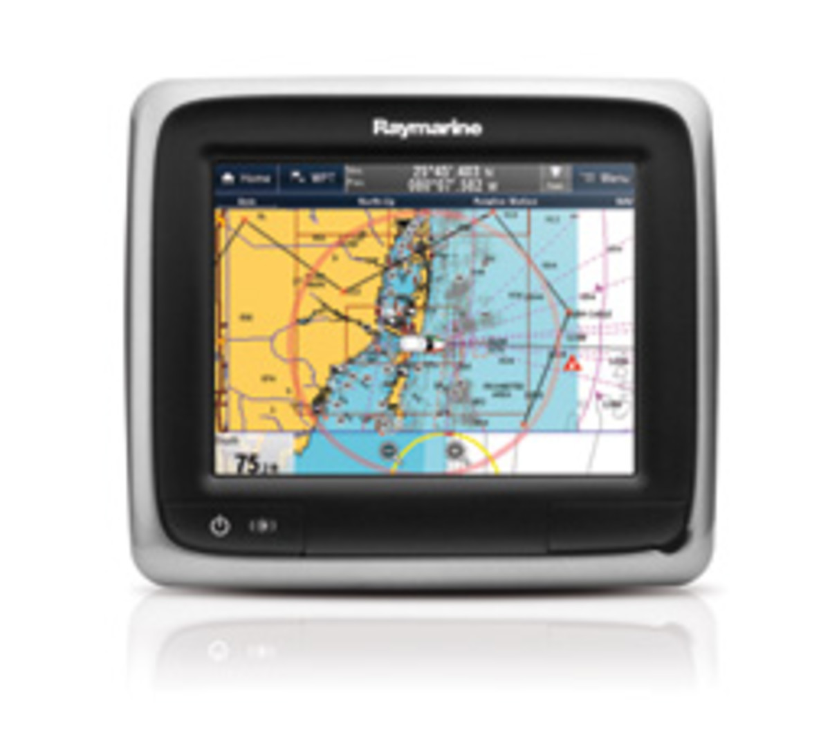Raymarine a-Series MFD with LightHouse v5 software