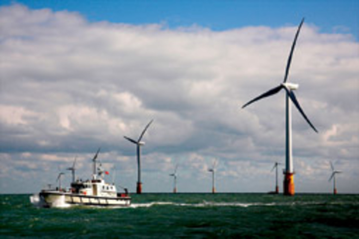 The Thanet offshore wind farm off southeast England is the largest in the world, with 100 turbines that generate enough electricity to power 200,000 homes.
