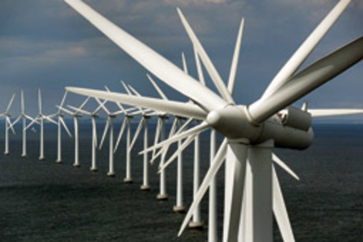 Critics say offshore wind farms pose a hazard to navigation.