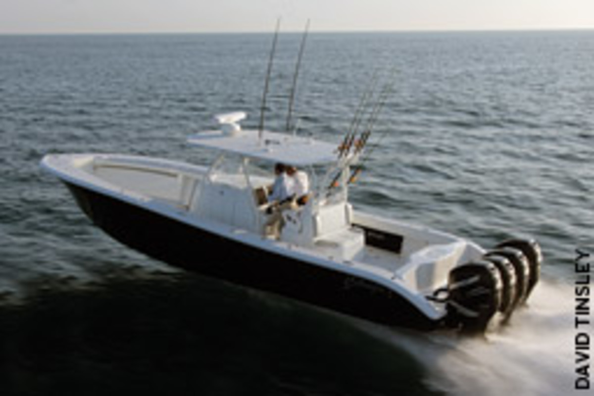 The 390 is Nagler's favorite Yellowfin model.