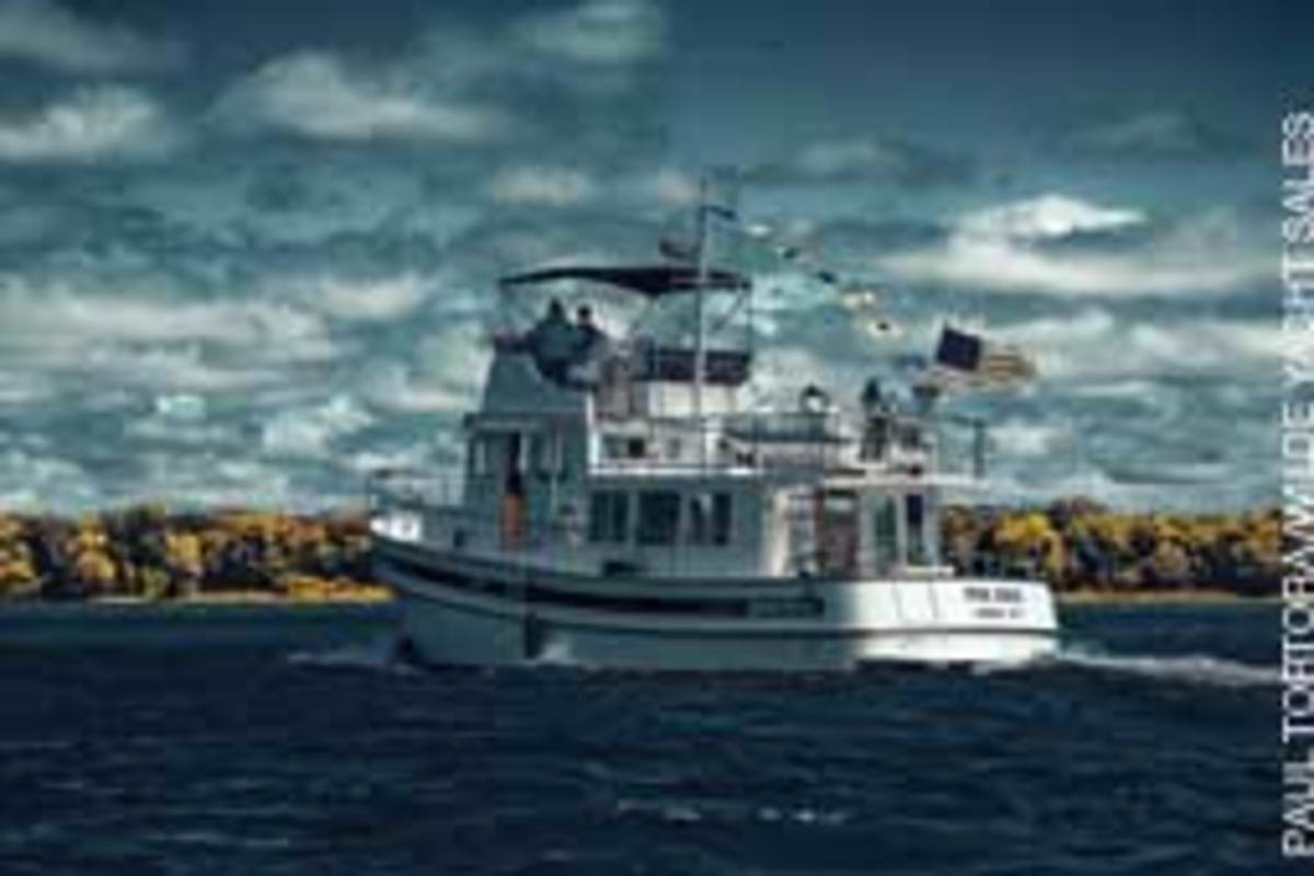 Brand, dependability, liveability and seaworthiness are among the characteristics our panel of owners value in a trawler (Nordic Tug 42 shown.)