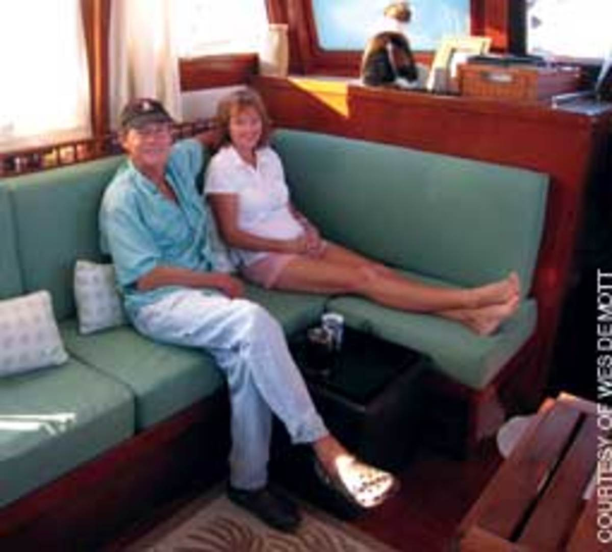 DeMott and his wife, Sabine, had planned to cruise the Caribbean to find inspiration for a new series of books.