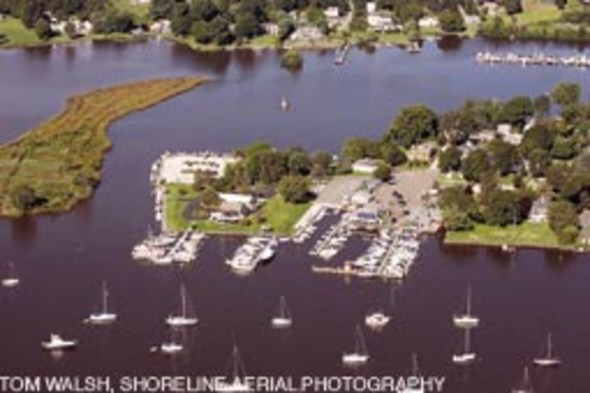 The Brewer Dauntless Marina docks (right) in Essex. Conn., will play host April 23-25 to the Spring Boat Show.
