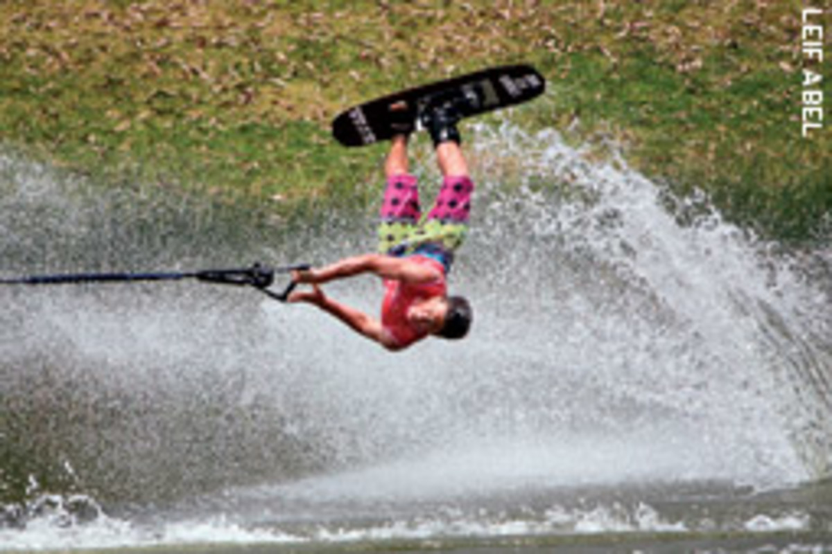 John Lex Kennerly of Jessup, Ga., is one of the gold medal-winning members of the U.S. Junior Water Ski Team.