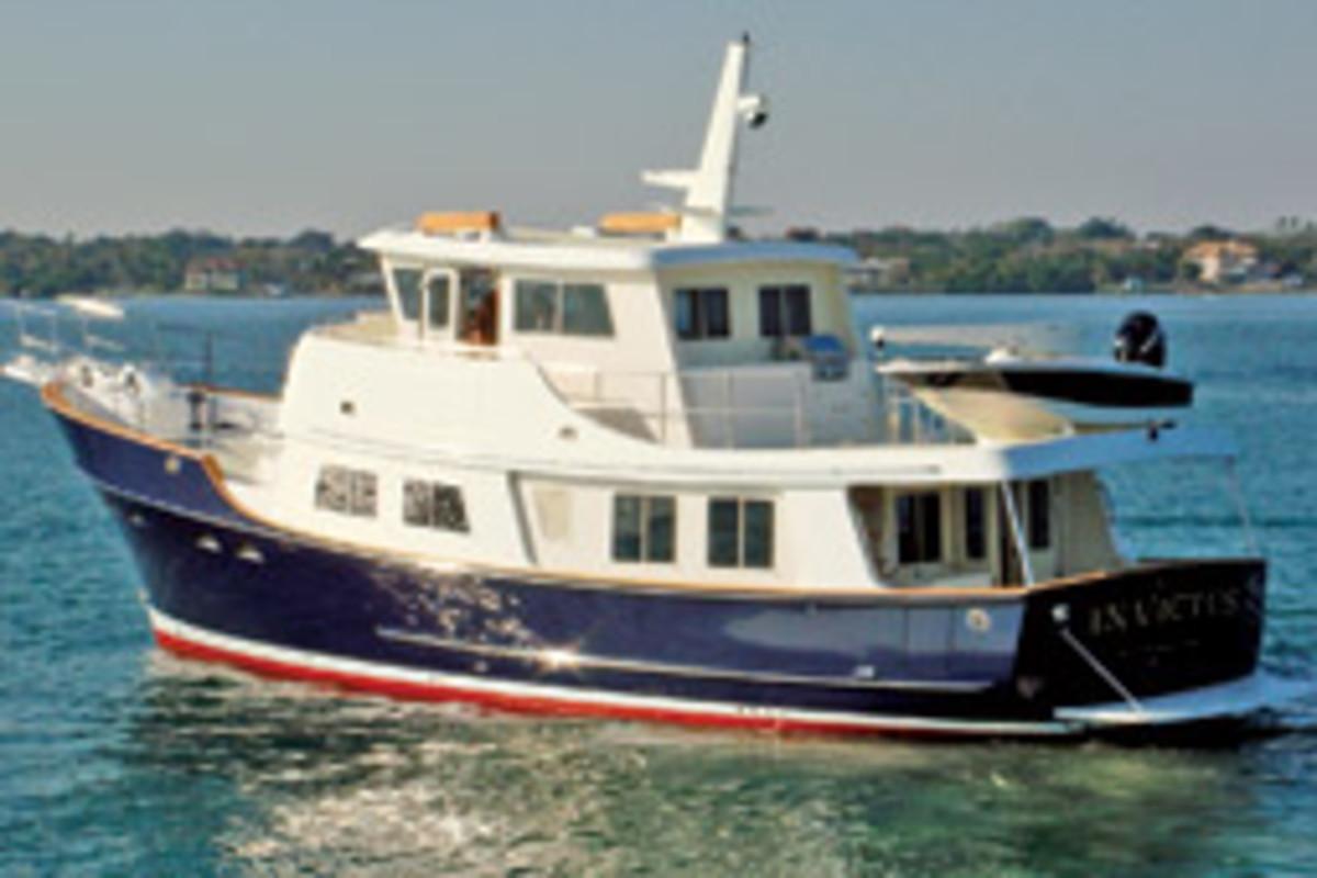 The Kadey-Krogen 55 was voted tops at PassageMaker magazine's Trawler Fest.