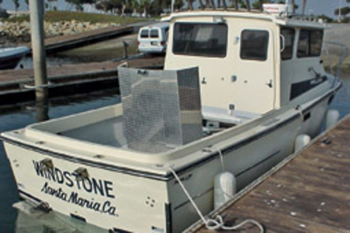 Windstone's new Cummins diesel was placed admidships.