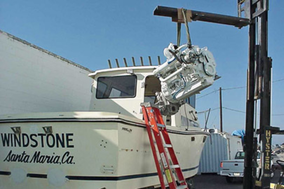 wiring harness marine engines inboard sterndrive outboard wiring  the repowering of this 25 foot farallon involved a total reconstruction of the boat from