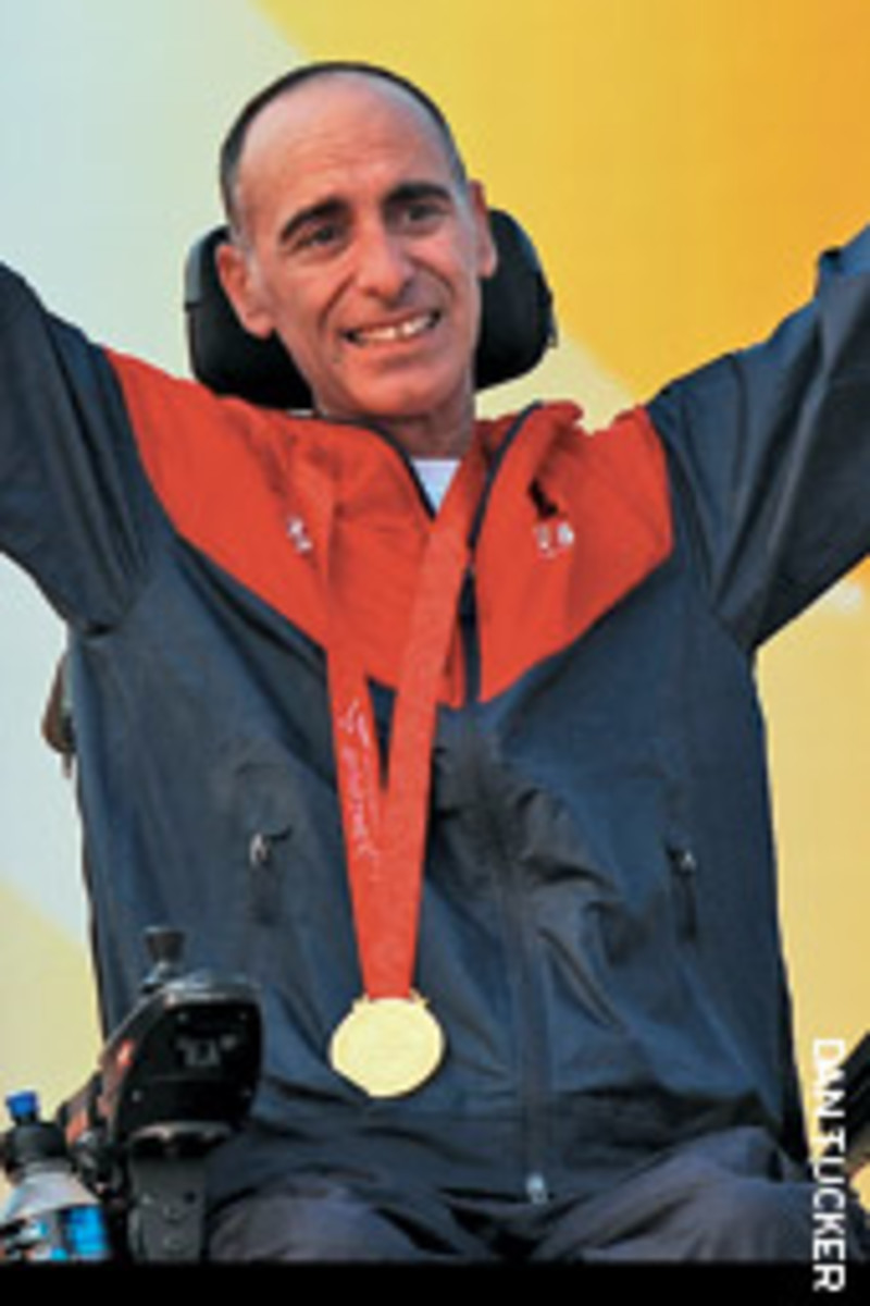Winning the gold medal at the 2008 Paralympic Sailing Regatta was