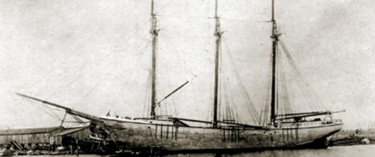 One theory is that the wreck Hurricane Ike unearthed is the 135-foot schooner Rachel, launched in 1919.