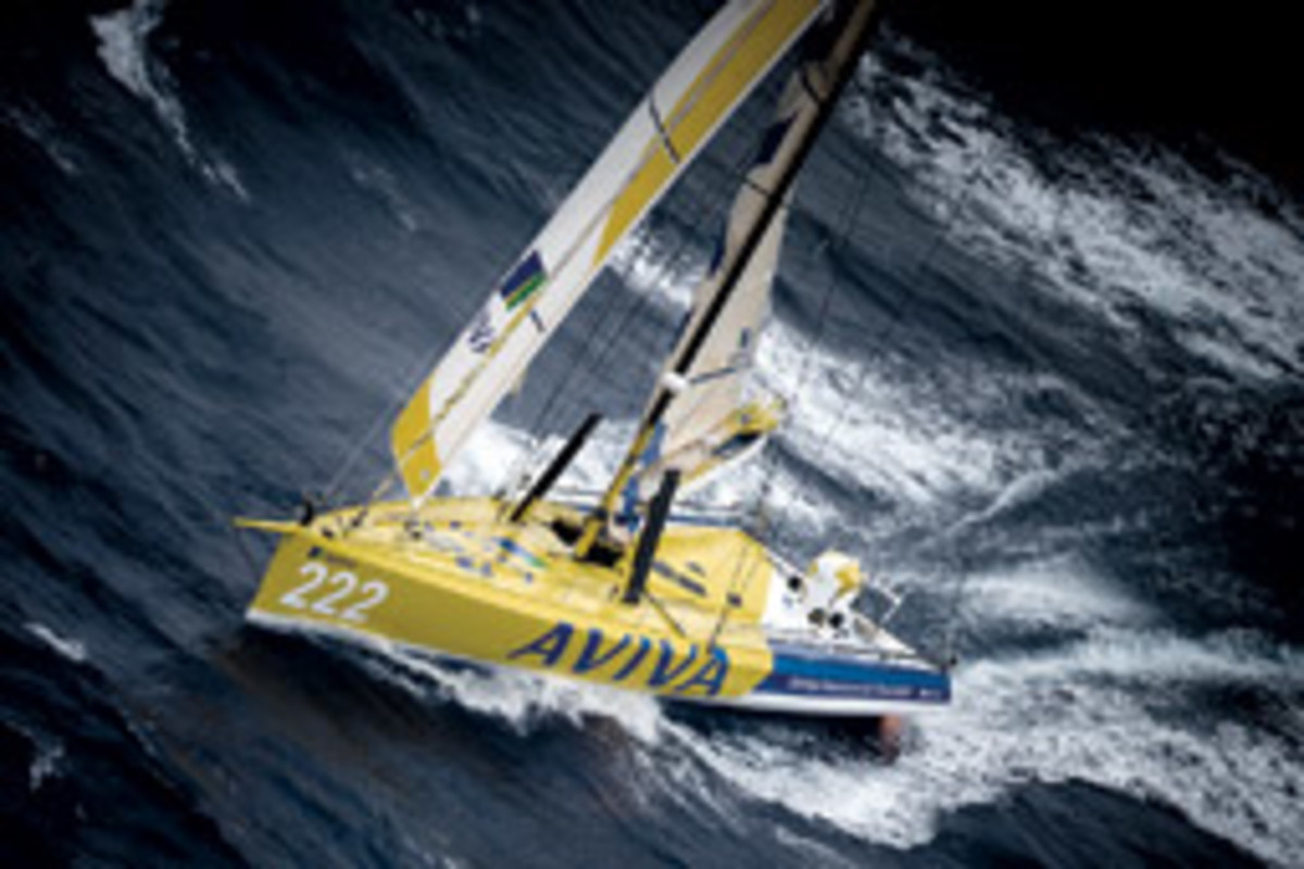 Caffari competed in the Vendee Globe aboard her Open 60 Aviva, finishing sixth.