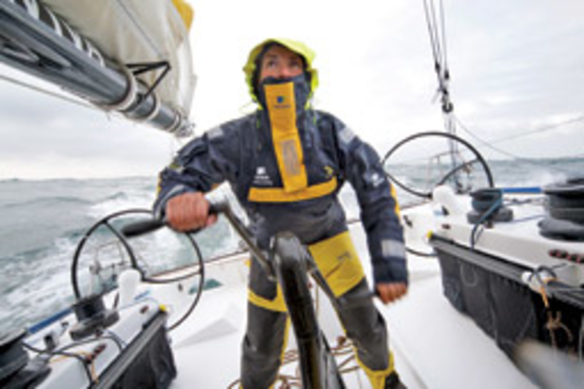 Dee Caffari says she looked to the competition in the Vendee Globe to push her in her goal to become the first woman to sail around the world in both directions.