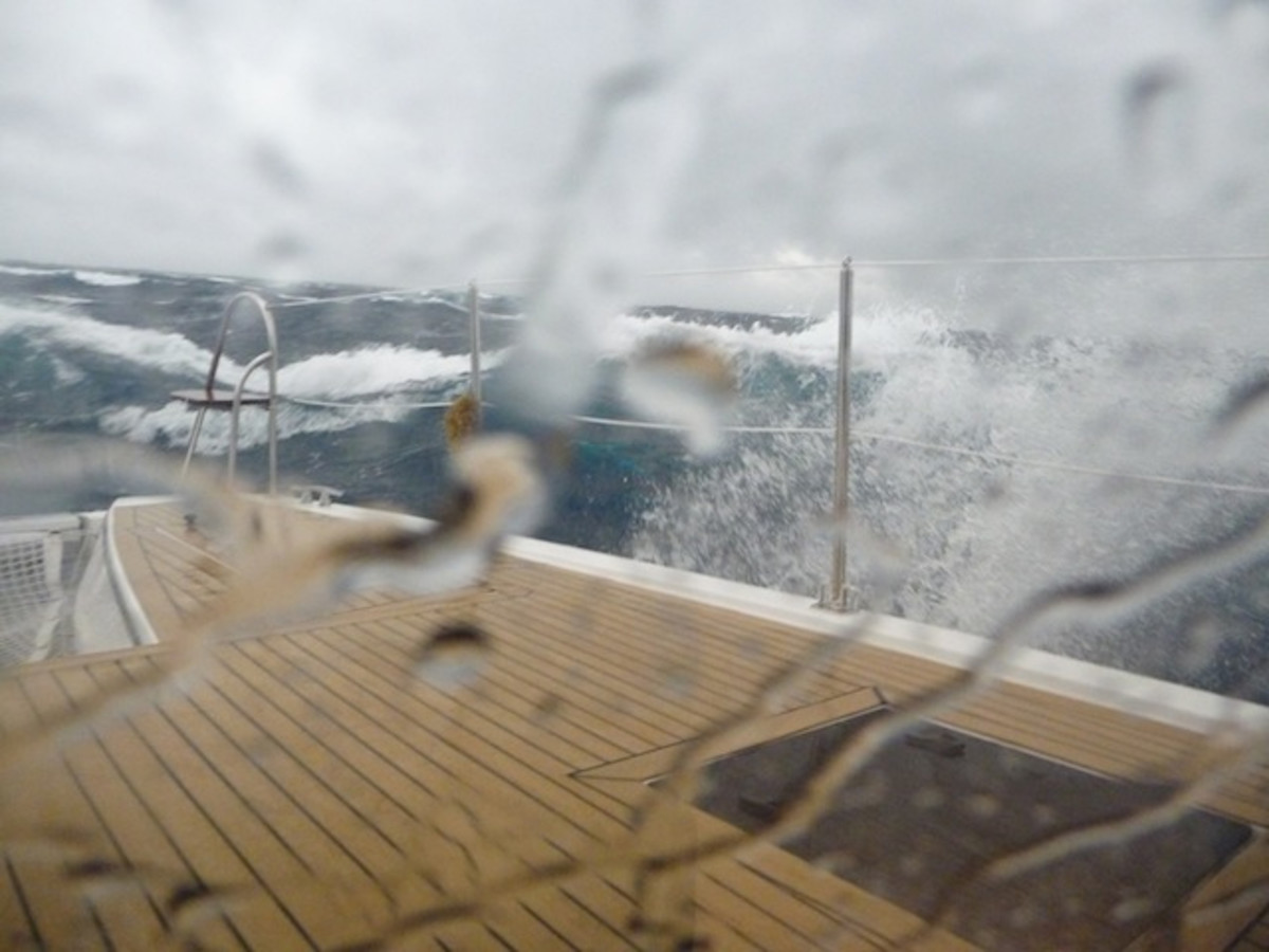 Heavy weather as viewed from inside.