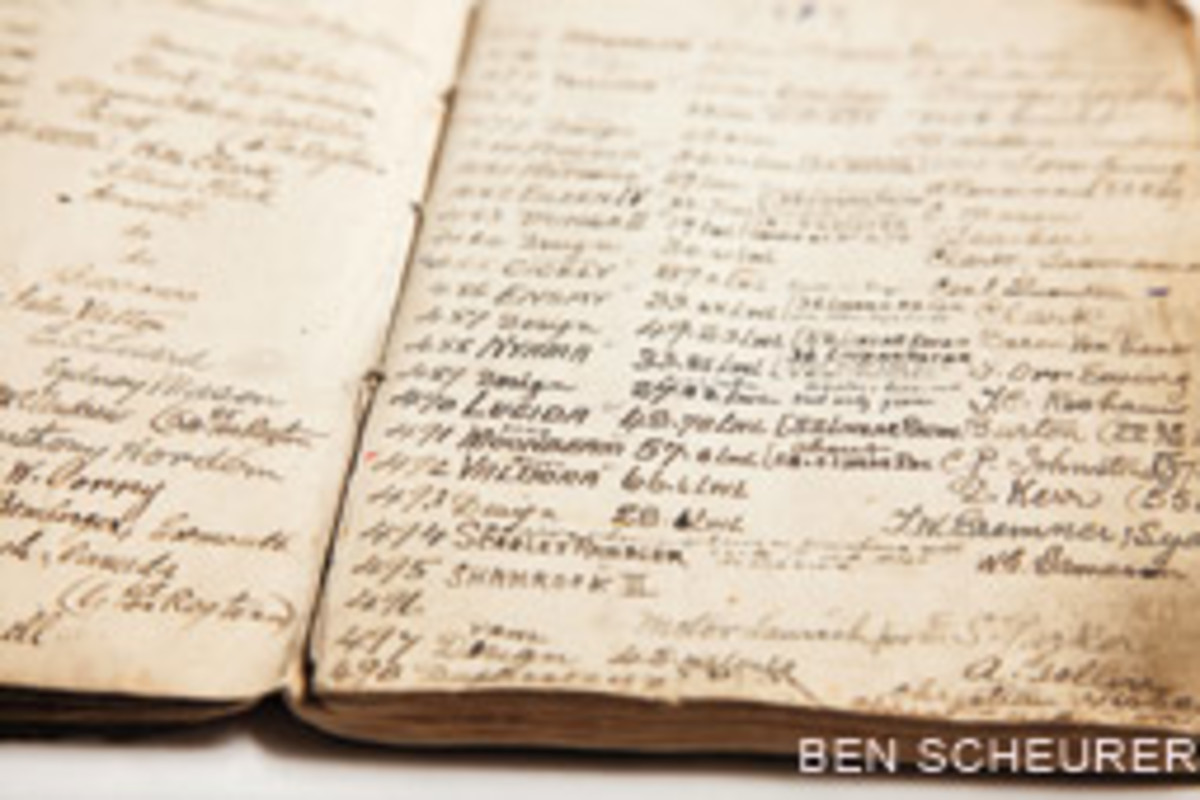 The notebook lists all of Fife's designs from 1896 to 1938.