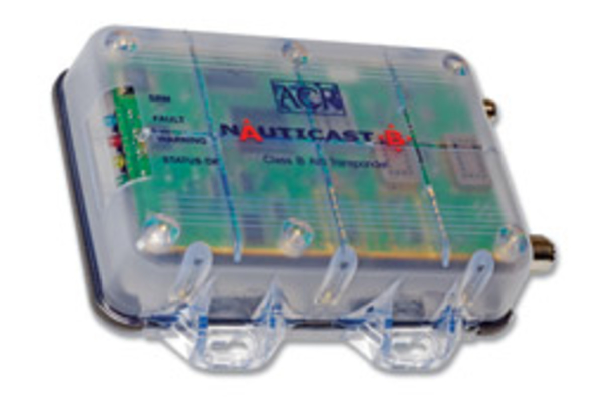 Class B AIS, such as ACR's Nauticast B, both transmits and receives vessel data.