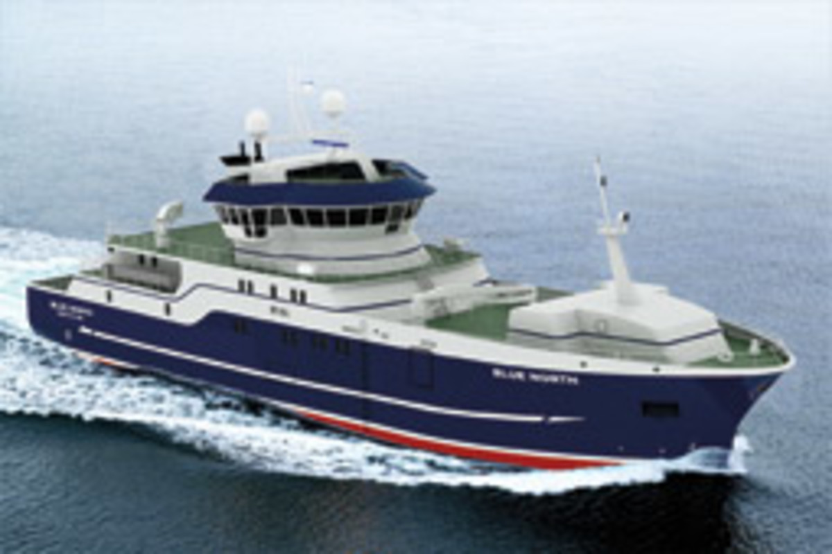 Innovations from Blue North's latest fishing vessel, the ST-155 (shown here in a rendering), can be applied to pleasure boats.