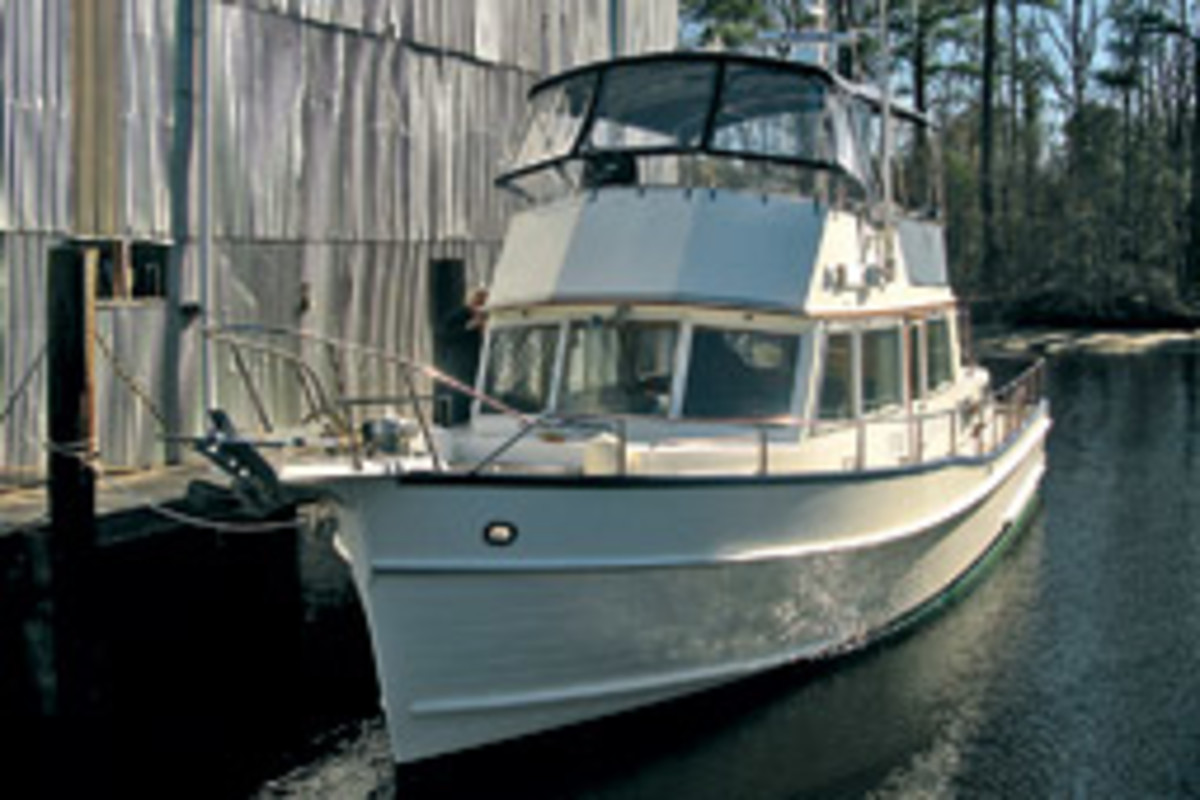 Edward Taulbee knew he wanted a Grand Banks. In January he decided the price was right on this 1994 Grand Banks 42 trawler.