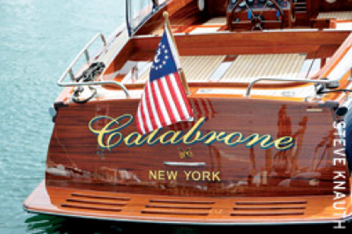 The hornet on the transom was of great importance to Bastianich, who also produces a wine called Calabrone.