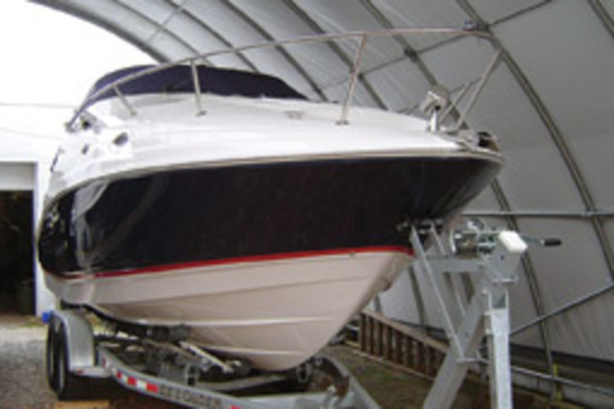 The Schlecks bought a 27-foot Regal new with Volvo Penta 265-hp sterndrive.