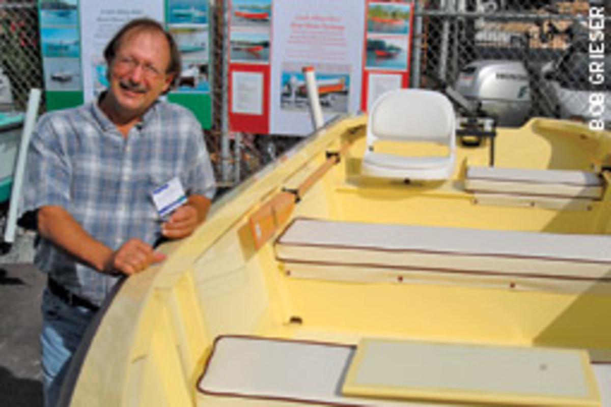 Tom Jones says he has never heard of anyone else combining tradtional wooden-boat techniques with PVC building materials.