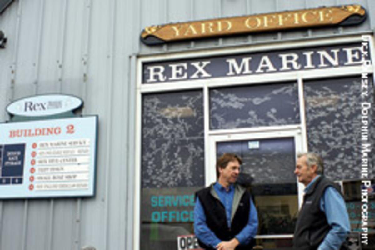 Bill Gardella Jr. and Sr. at Rex Marine today.