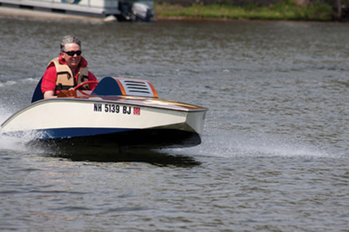 A group of New England enthusiasts have restored several rare speedboats that once raced on a flooded horse track.