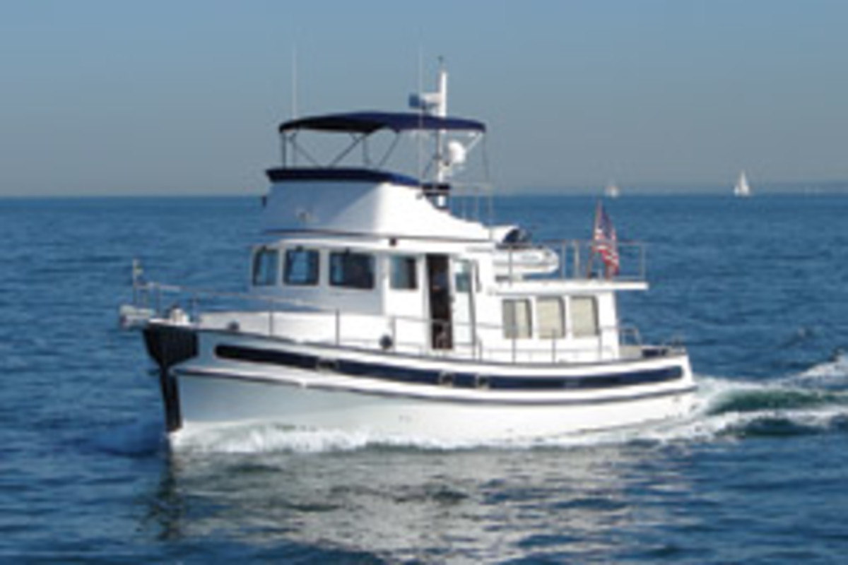 A semidisplacement trawler offers economical cruising speeds and a higher top end than a displacement boat.