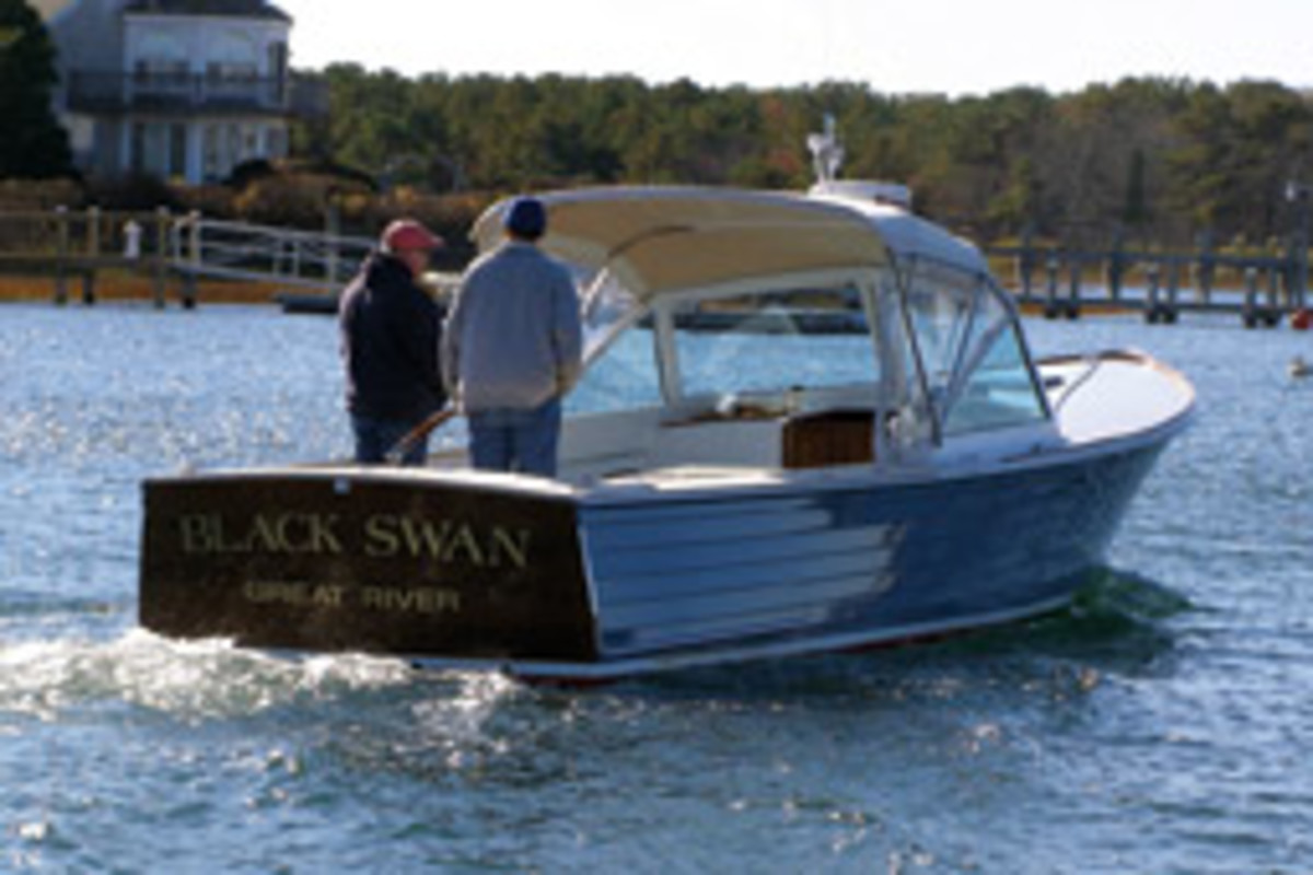 The Tribue's salty look, in part, came from the MacKenzie bass boats built in New England decades ago.