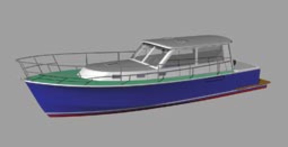 This Steve Danzell design combines an efficient hull with a Spartan interior to reduce weight and improve efficiency.