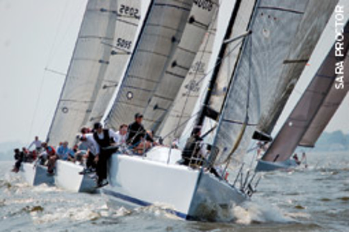 Ramrod consistently led the fleet at the first Chesapeake Farr 40.