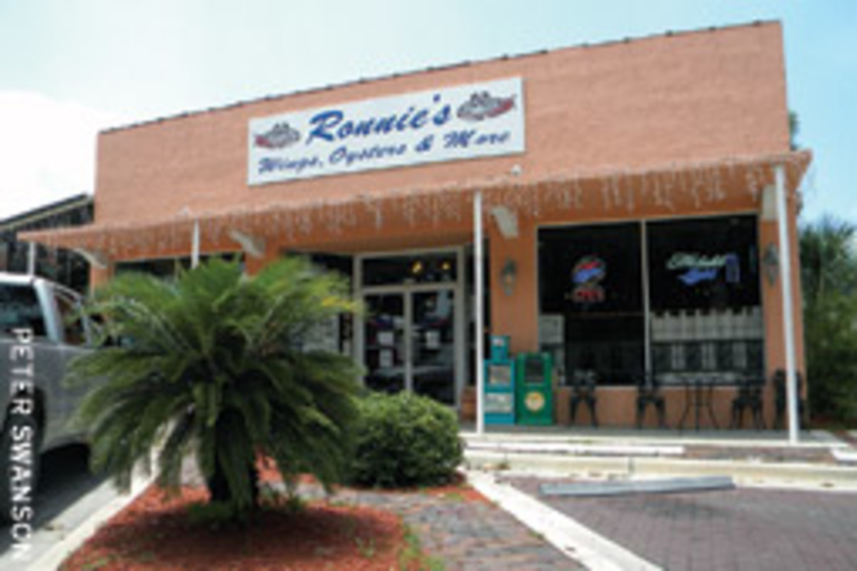 Ronnie's is just a short walk from the city pier.