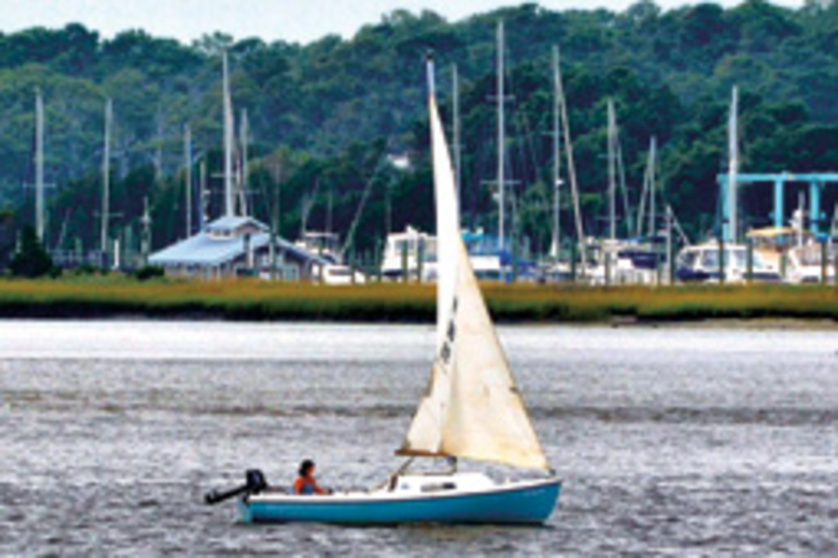 Karen Ellison single-hands a Mariner 19 when she's not sailing with her husband aboard their 40-foot Pearson.