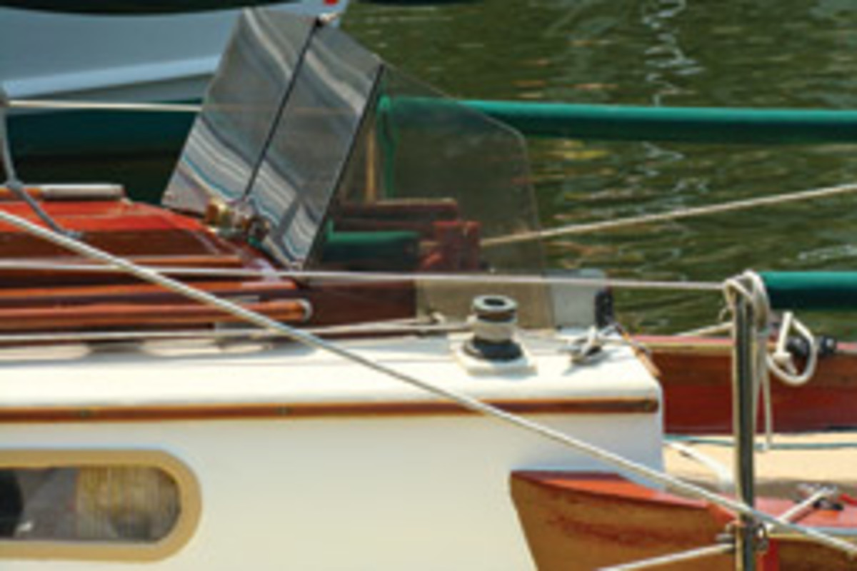 The Bay Tripper's new spray shield proved its value on a windy day on the Choptank River.