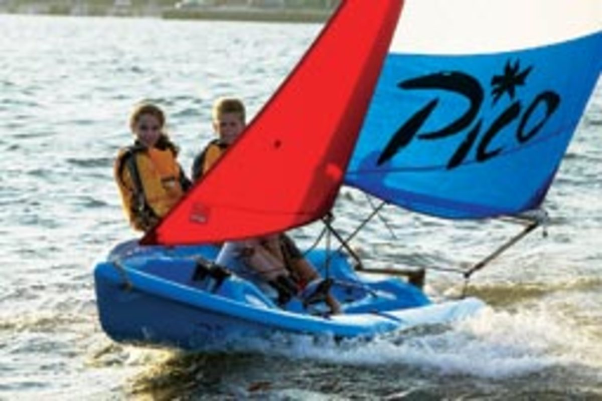 LaserPerformance has been pushing into recreational sailing with rotomolded daysailers like the Pico.