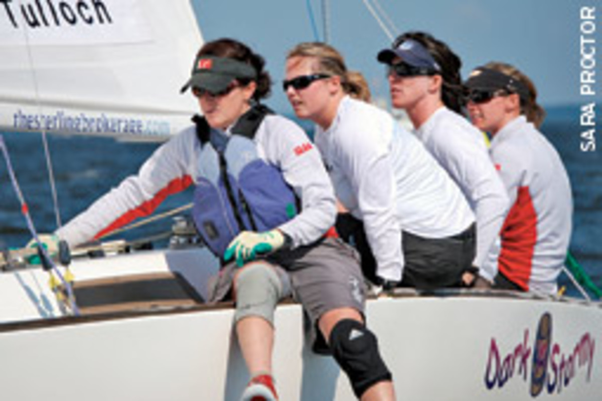 Genny Tulloch with crew Liz Hall, Jamie Haines and Elizabeth Kratzig, took second place.